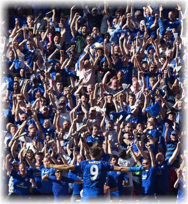 leicester with fans