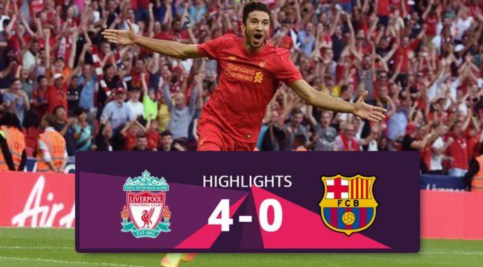 Liverpool vs Barcelona hightlights 2016