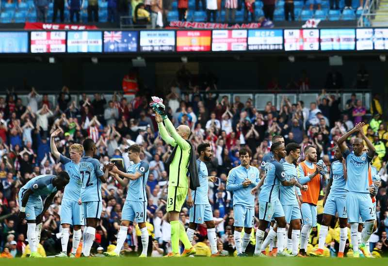 manchester city with fans