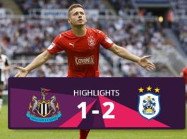 Newscasttle vs Huddersfield Town highlights 2016
