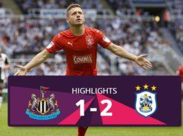 Newscasttle vs Huddersfield Town highlights 2016