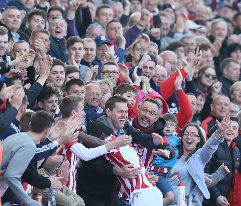 stoke fans celebrating