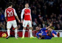 Arsenal spelar mot Chelsea