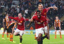 Mancester United zlatan jublar efter mål