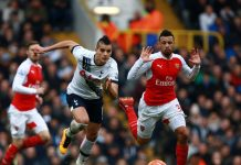 Arsenal mot Tottenham lördag 6 november