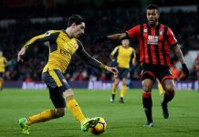 Bournemouth mot Arsenal 3-3 i PL.