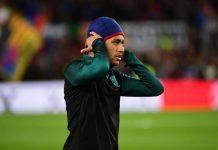 Neymar with hat.