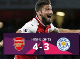 Arsenal vs Leicester hightlights 2017