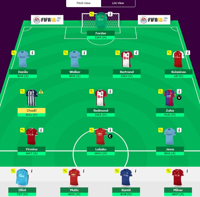 FPL team aug - week 1