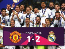 Manchester United vs Real Madrid Supercup hightlights 2017