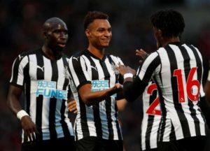 Newcastle team mates