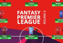 Fantasy Premier League - round 6