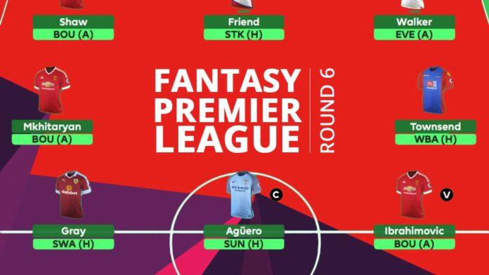 Fantasy Premier League - round 6